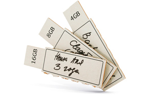Концепт: флеш-накопители из картона