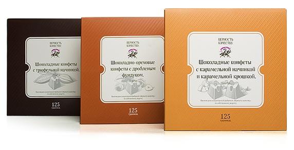 Упаковка шоколадных конфет