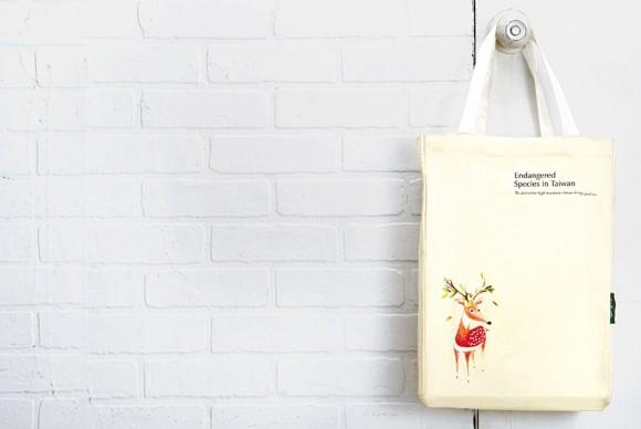холщовая сумочка с изображением оленя