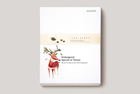 упаковка чая с изображением оленя
