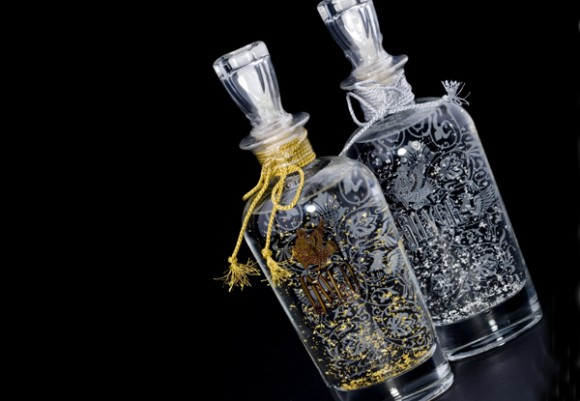 водка Gold & Silver в подарочных графинах