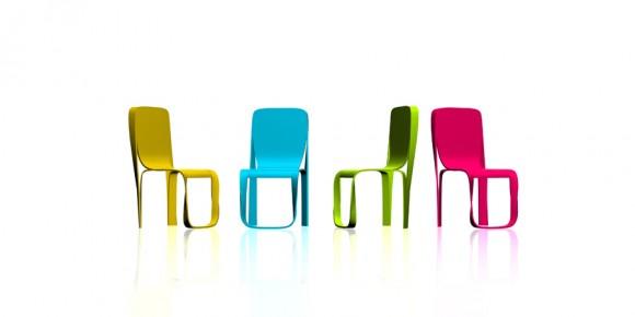 лента мебиуса, яркая мебель, пластиковая мебель