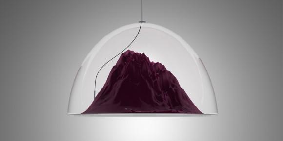 дизайнерский светильник, айсберг, под колпаком, стеклянная полусфера