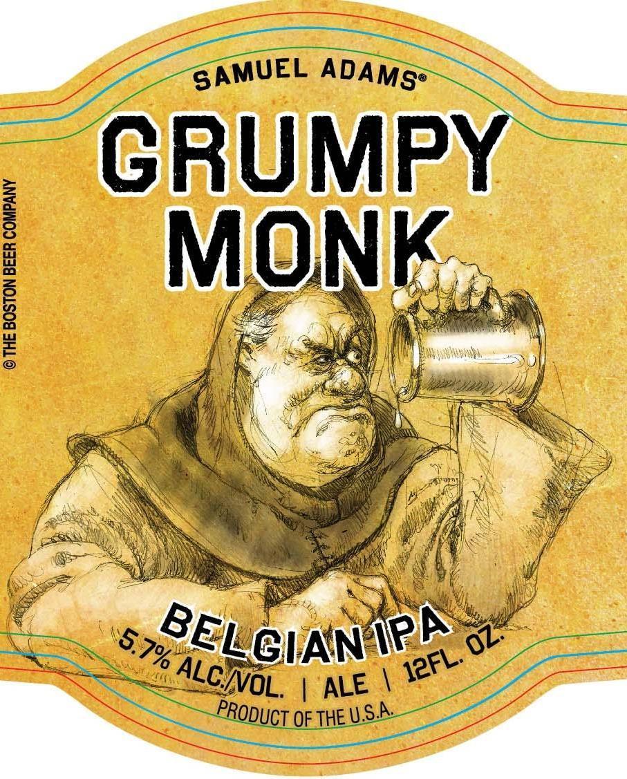 этикетка пива Grumpy monk