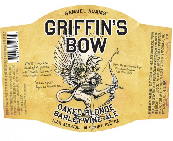 этикетка пива Griffin's bow