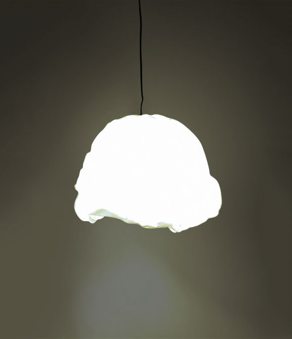 Светильник с бумажным абажуром