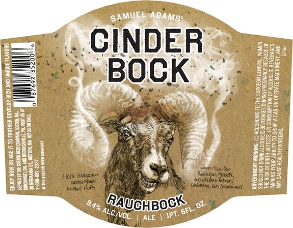этикетка пива Cinder bock