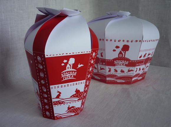 упаковка пасхальные булочки Красная горка