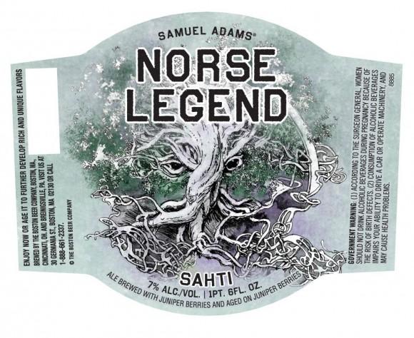 этикетка пива Norse legend