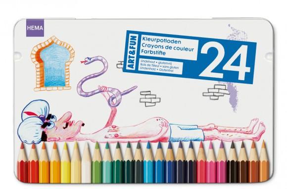 упаковка карандашей с детскими рисунками