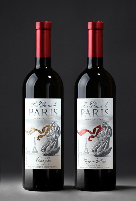 этикетка вина Le charme de Paris