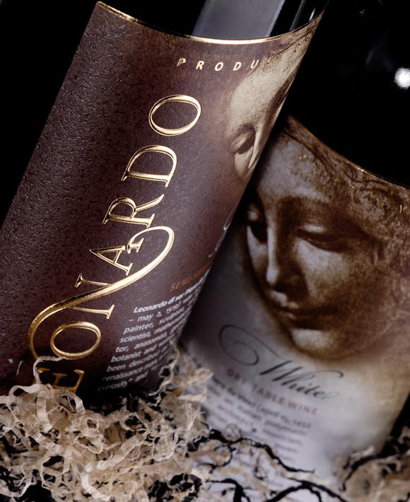 этикетка вина Leonardo – рисунок Леонардо Да Винчи