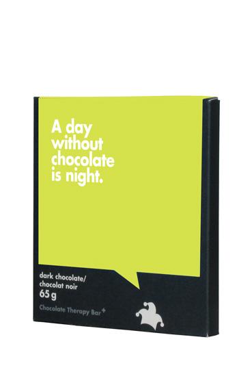 упаковка шоколада с цитатами на этикетке