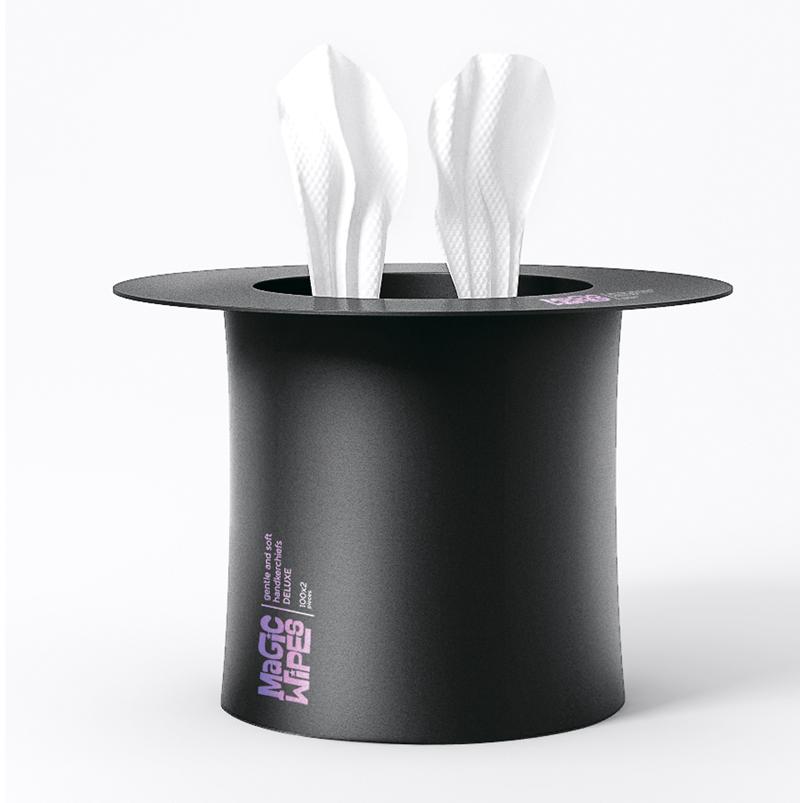 упаковка салфеток Magic Wipes – шляпа фокусника
