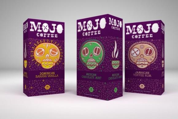 упаковка кофе с иллюстрацией