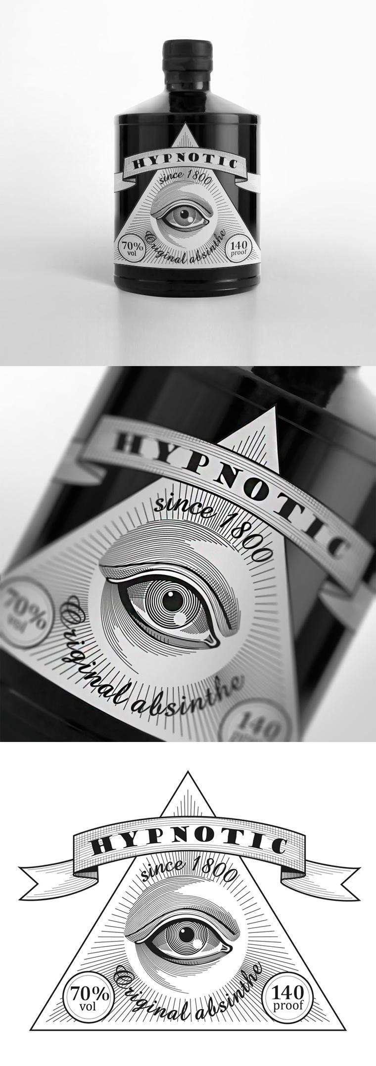 Упаковка абсента Hypnotic