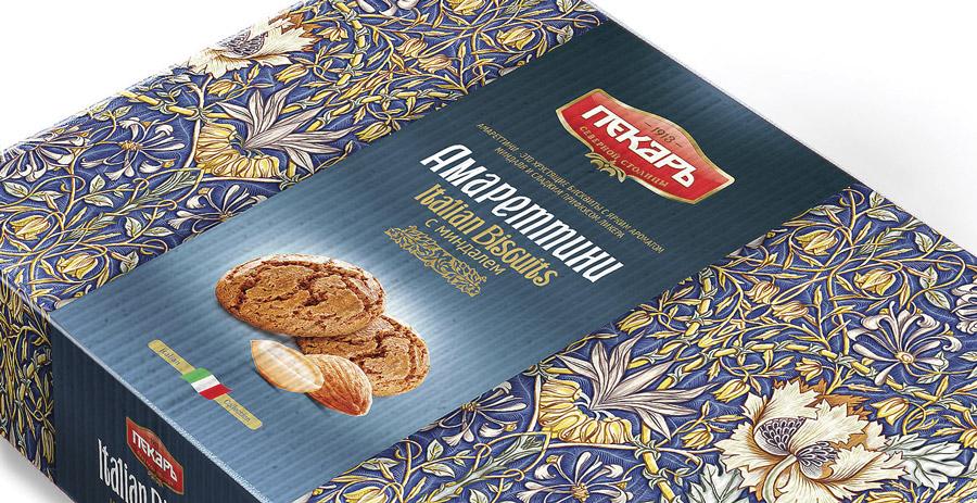 упаковка печенья Пекарь