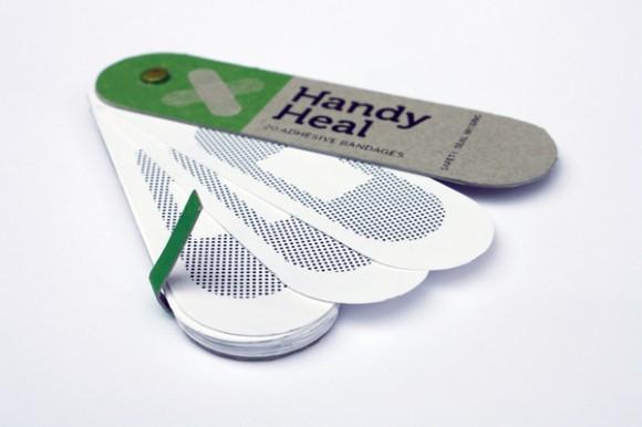 упаковка пластырей в виде веера