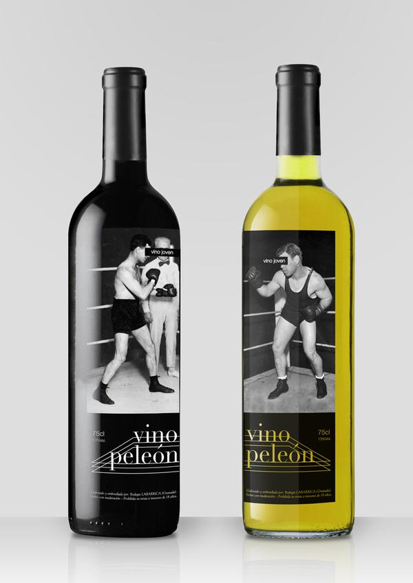 Vino peleón – этикетка с боксерами