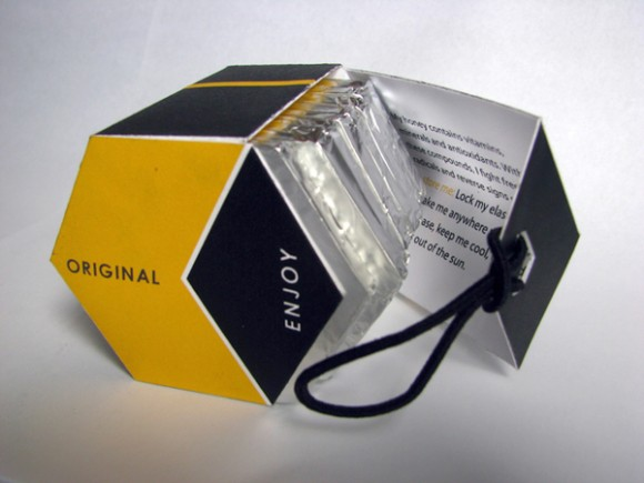 упаковка шоколада в виде сот