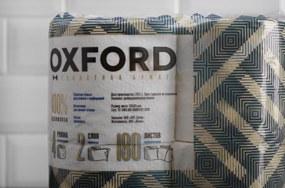 Упаковка туалетной бумаги Oxford