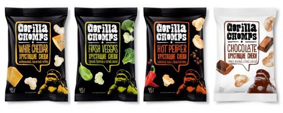 упаковка кукурузных палочек Gorilla Chomps