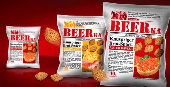 упаковка сухариков BEERka