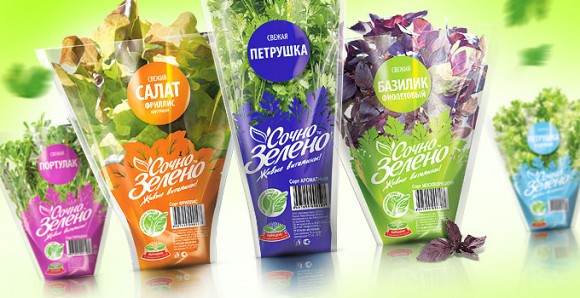 упаковка салатов – Сочно-зелено
