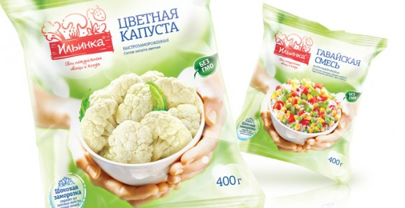 упаковка замороженных овощей Ильинка – цветная капуста