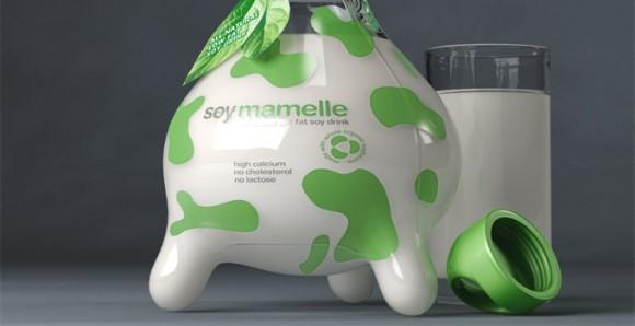 концепт упаковки молока Soymamelle