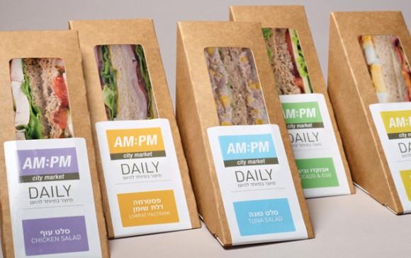 упаковка сендвичей AM:PM – агентство Blend-It, Израиль