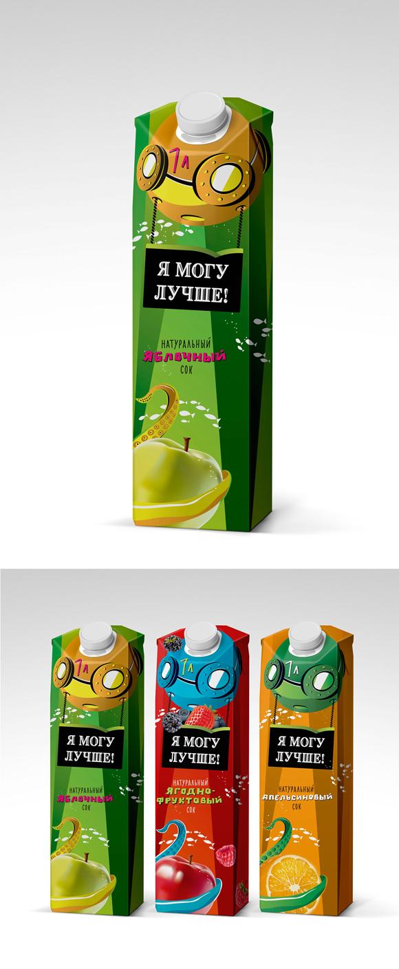 упаковка сока «Я могу лучше» - редизайн сока Моя семья, Алексей Сеоев