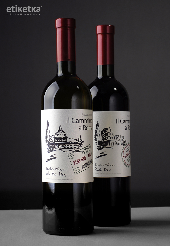 Упаковка вина Il Cammino a Roma – дизайн-агентство Etiketka