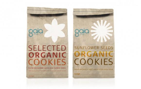 упаковка печенья Gaia – агентство Blend-It, Израиль