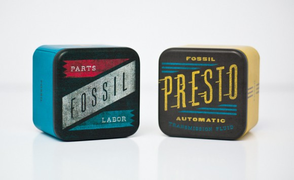 упаковка часов Fossil