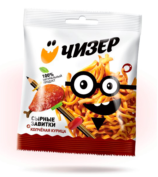 Упаковка копченого сыра Чизер