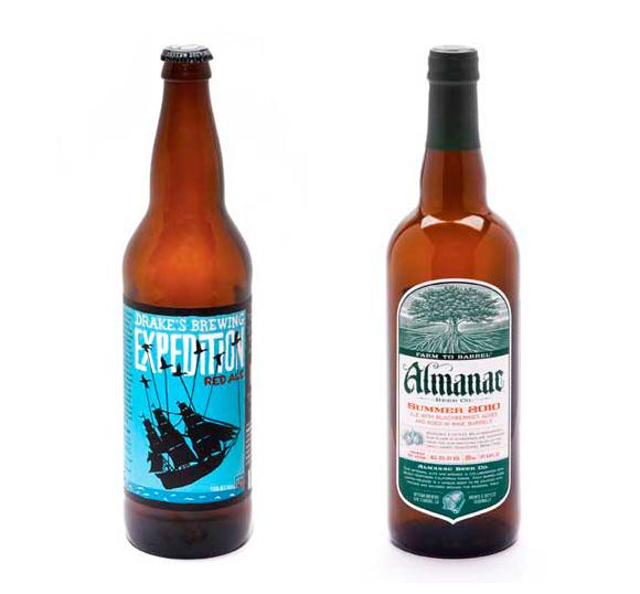 Упаковка пива Drake's brewing и Almanac Summer