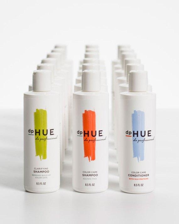 Упаковка шампуня - dp HUE
