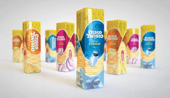 Упаковка крекера Cristo Twisto – агентство POLARIS