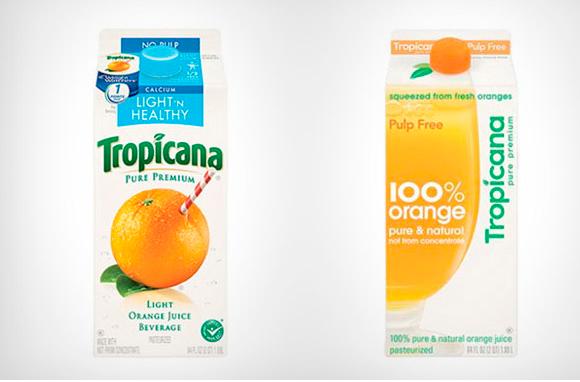 Упаковка сока Tropicana – ребрендинг