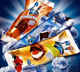 Упаковка мороженого Айс-Фили