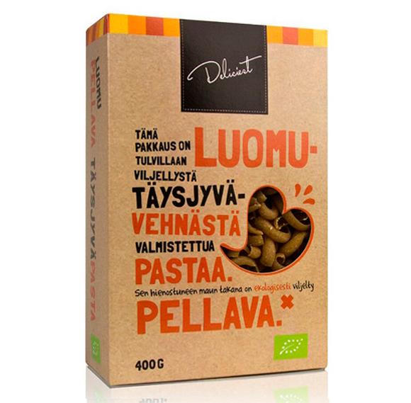 Упаковка органической пасты со льном