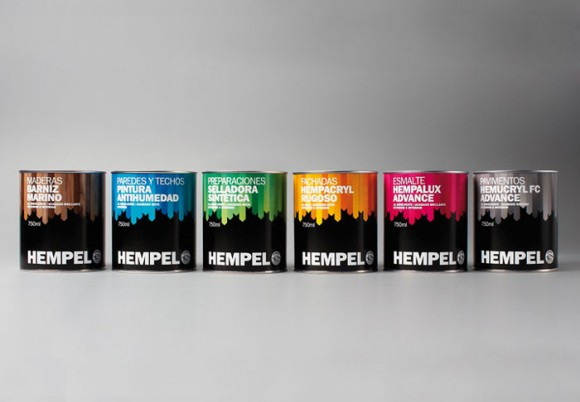 Дизайн упаковки линии красок