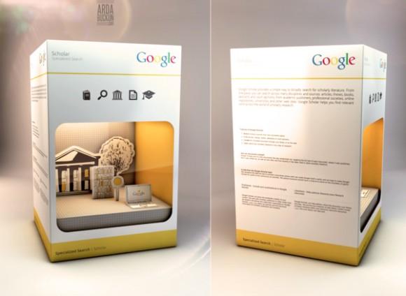 Упаковка продуктов Google