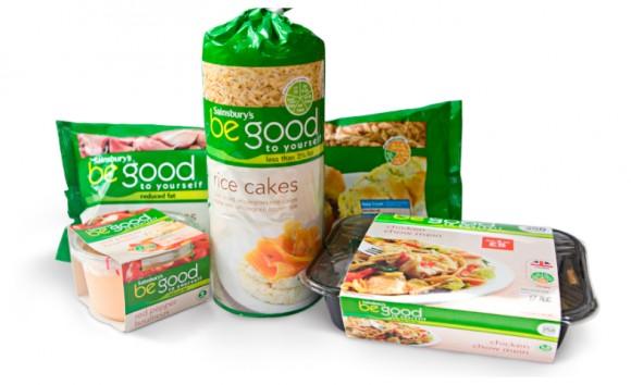 Упаковка продуктов сети Sainsburys