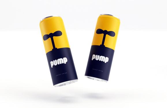 Концепт упаковки энергетика Pump