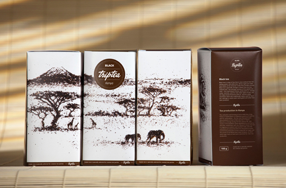 Концепт упаковки чая Triptea