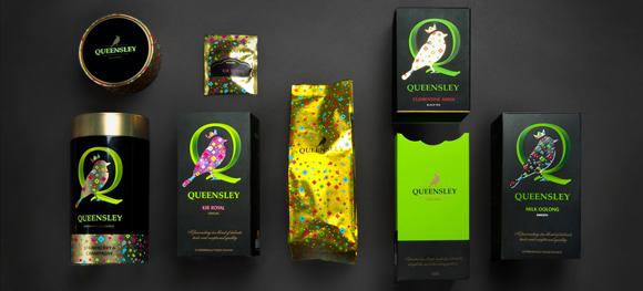 Упаковка элитного чая Queensley