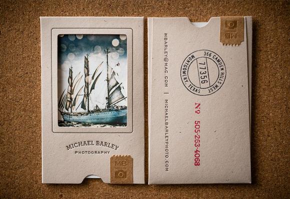 Упаковка визитных карточек