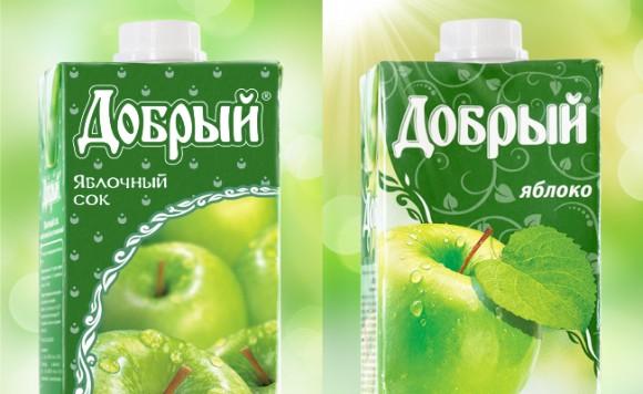 Редизайн упаковки сока Добрый
